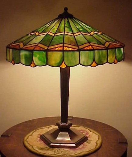 Don's Lamps & Antiques: Bradley & Hubbard Leaded Glass Lamp