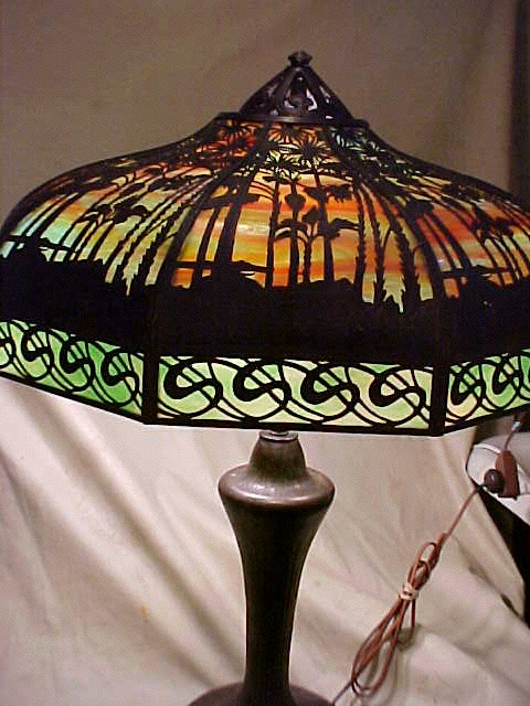 Don S Lamps Amp Antiques Handel Quot S Quot Border Palm Overlay