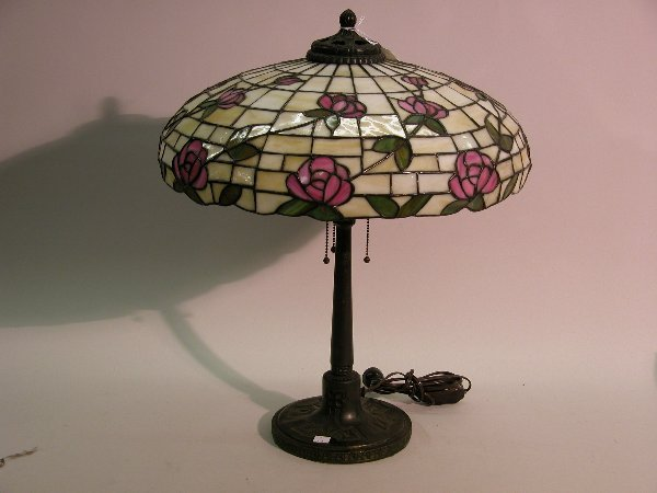 Don S Lamps Amp Antiques J A Whaley Leaded Glass Lamp