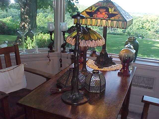 Don's Lamps & Antiques: Handel Tree Trunk Lamp Base